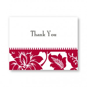 Radiant Blooms Letterpress Thank You Cards