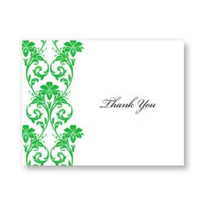 Romantic Vines Letterpress Thank You Cards