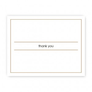 Audrey Letterpress Thank  You Cards