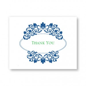 Silhouette Letterpress Thank You Cards