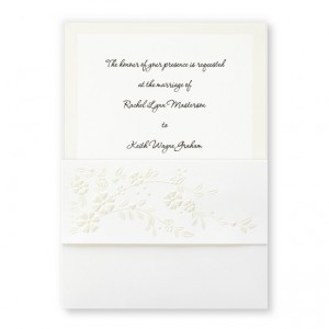 Crescendo Floral Wedding Invitations