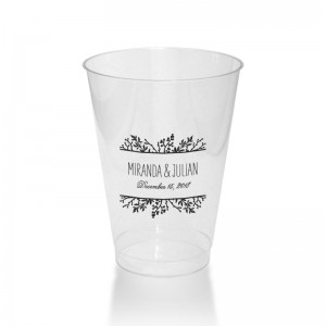 Winter Flora 12 Ounce Clear Plastic Tumbler