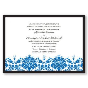 Damask Edge II Wedding Invitations
