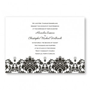 Damask Edge Wedding Invitations