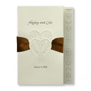 Damask Hearts Unique Wedding Invitations