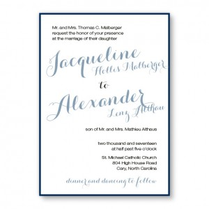 Darling Classic 2-Layer Wedding Invitations