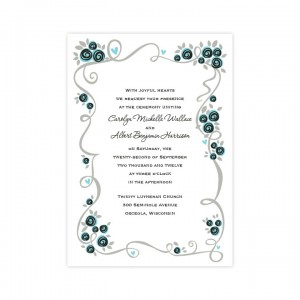 Dazzling Flower Vine Wedding Invitations