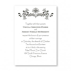 Delicate Touch Flower Wedding Invitations