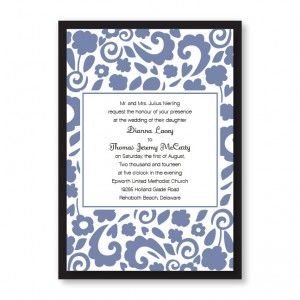 Divine Floral Elegance Wedding Invitations