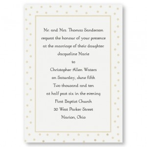 Dotted Elegance Classic Wedding Invitations