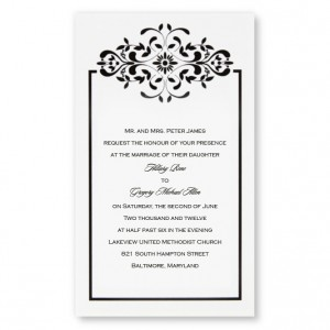 Dramatic Dream Damask Wedding Invitations