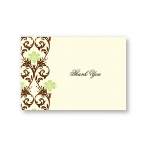 Lavish Border Thank You Cards