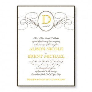 Elegance 2-Layer Monogram Wedding Invitations