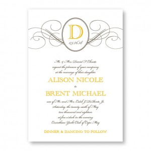 Elegance Monogram Wedding Invitations