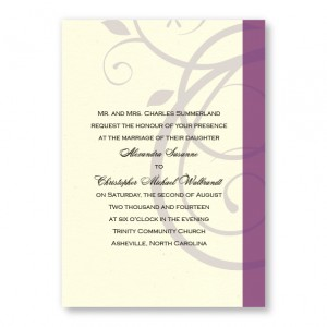 Elegant Swirl Wedding Invitations