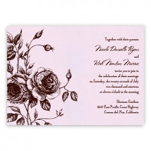 Elizabeth Floral Wedding Invitations