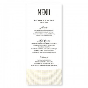 Ellington Foil Menu Cards