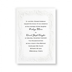 Embossed Splendor Classic Wedding Invitations