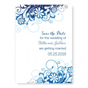 Enchantment Blossoming Save The Date Cards