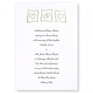 Eternal Love Silver Heart Wedding Invitations