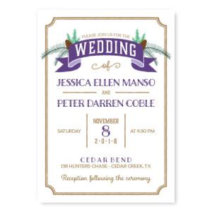 Evergreen Banner Nature Wedding Invitations