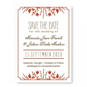 Fall Flora Save The Date Cards