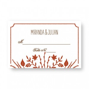 Fall Flora Seating Cards