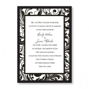 Fashion Swirls Wedding Invitations