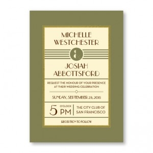 Fern Custom Wedding Invitations