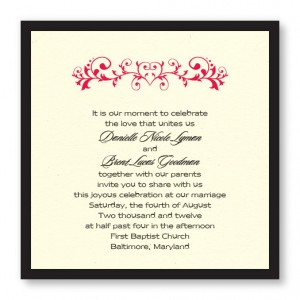 Fleur de Love Wedding Invitations