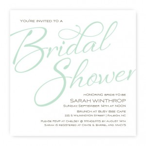 Flirt Bridal Shower Invitation