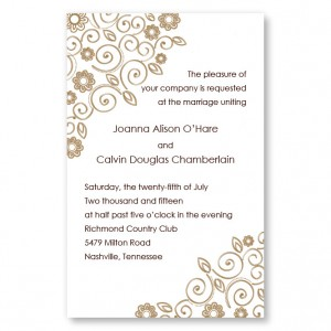 Flirty Flowers Letterpress Wedding Invitations