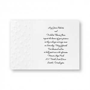 Floral Applique Classic Wedding Invitations - LIMITED STOCK ON HAND