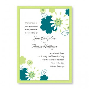 Flowers for the Bride Wedding Invitations
