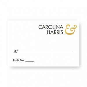 Foil Ampersand Seating Cards