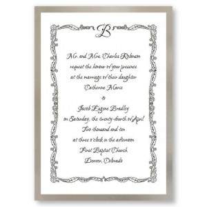 Initial Accent Flourish Wedding Invitations