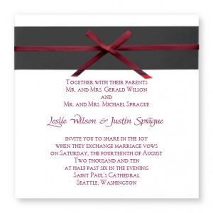 Formal Affair Unique Wedding Invitations
