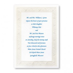 Framed in Elegance Traditional Wedding Invitations