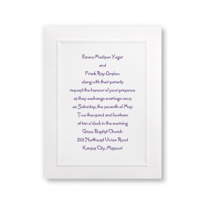 Framed in Tradition Classic Wedding Invitations
