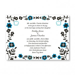 Fresh Beginnings Flower Wedding Invitations