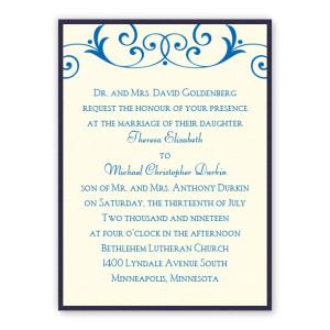 Gabriella 2-Layer Classic Wedding Invitations