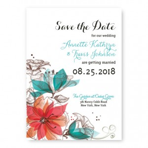 Garden Bouquet Save The Date Cards