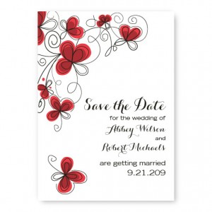 Garden Enchantment Save The Date Cards