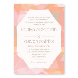 Gemstone Unique Wedding Invitations