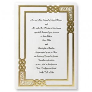 Golden Moment Celtic Knot Wedding Invitations