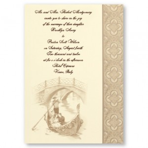 Gondola of Love Wedding Invitations