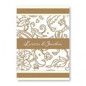Graceful Foliage Floral Wedding Invitations