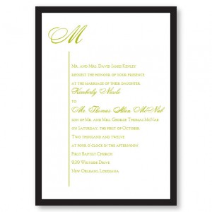 Graceful Style II Wedding Invitations