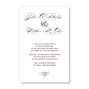 Gracious Elegance Wedding Invitations