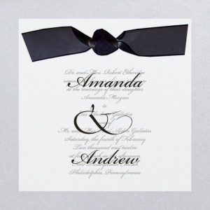 Happy Together Silver Custom Wedding Invitations